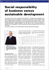 Social responsibility of business versus sustainable development